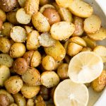 Greek Lemon Roasted Baby Potatoes
