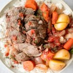 Slow Cooker Leg of Lamb with Vegetables