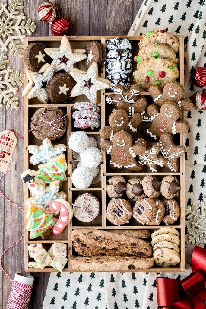 Complete how-to guide to make the best holiday cookie box with the top Christmas holiday cookies including recipes and tips. It's the best Christmas gift. | aheadofthyme.com