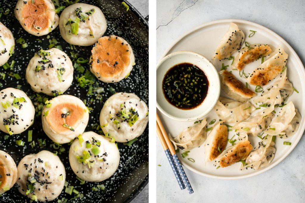 Roundup of the most popular 25 best Chinese dim sum recipes including potstickers, dumplings, steamed buns, spring rolls and more appetizers. | aheadofthyme.com