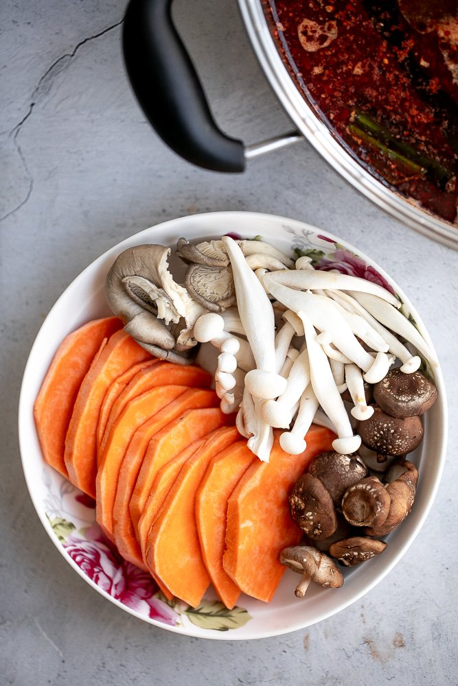 Chinese hot pot at home is a warm, comforting social meal to enjoy with family or a small group of friends. Delicious, easy to prepare, and customizable. | aheadofthyme.com
