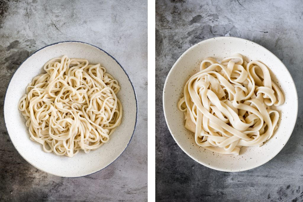 Hand-pulled noodles (la mian 拉面) are springy, chewy and delicious traditional homemade noodles that are rolled and stretched into long strips. | aheadofthyme.com