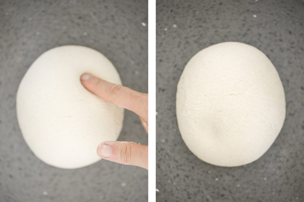 This easy homemade pizza dough makes the best crisp pizza crust that is soft, airy, chewy and flavourful. It's a perfect recipe for beginners. | aheadofthyme.com