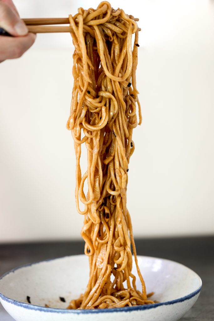Shanghai scallion oil noodles (葱油拌面) is a flavourful, simple noodle dish that is easy to make homemade with 6 ingredients in under 10 minutes.   aheadofthyme.com