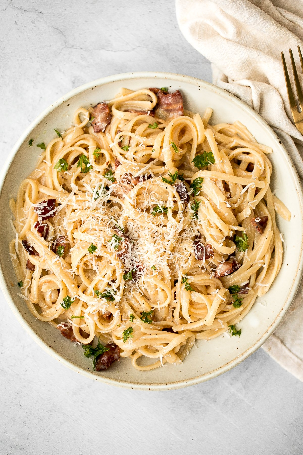 Spaghetti Carbonara Ahead Of Thyme