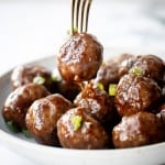 Sticky Honey Garlic Meatballs