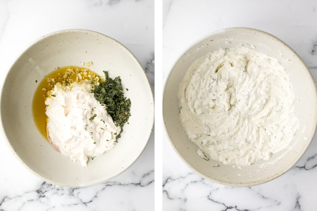 Light and airy, whipped ricotta dip is so easy to make in just 5 minutes with a few fresh ingredients including fresh herbs, olive oil, garlic, and honey. | aheadofthyme.com