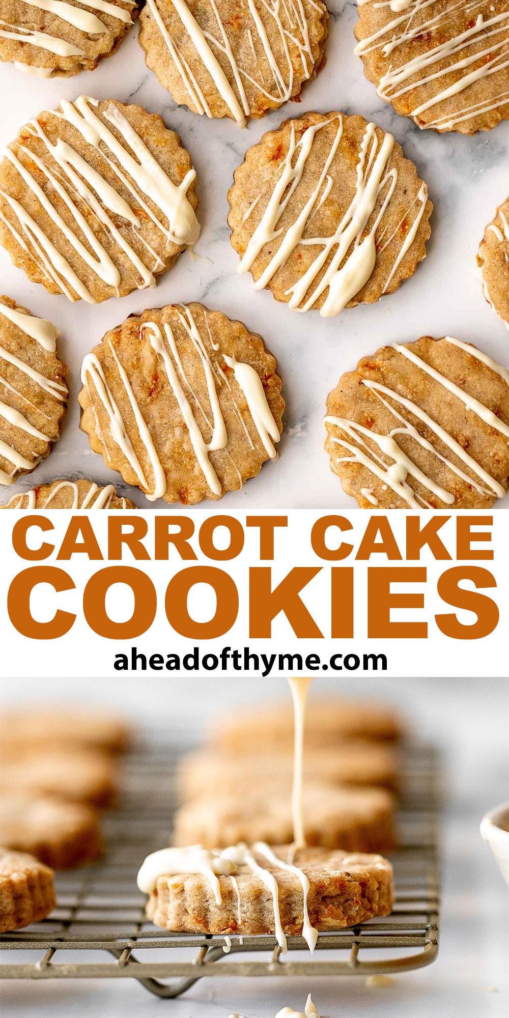Carrot Cake Shortbread Cookies