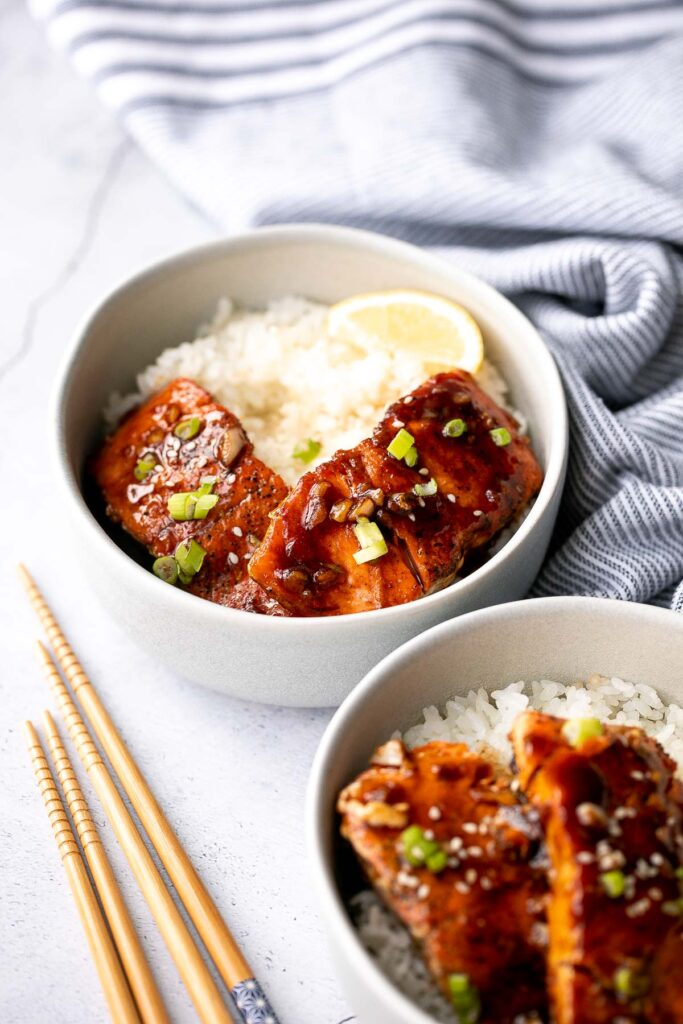 Sticky and sweet, easy honey garlic glazed salmon is one of the best salmon recipes to add to your weeknight dinner rotation. Ready in under 25 minutes. | aheadofthyme.com