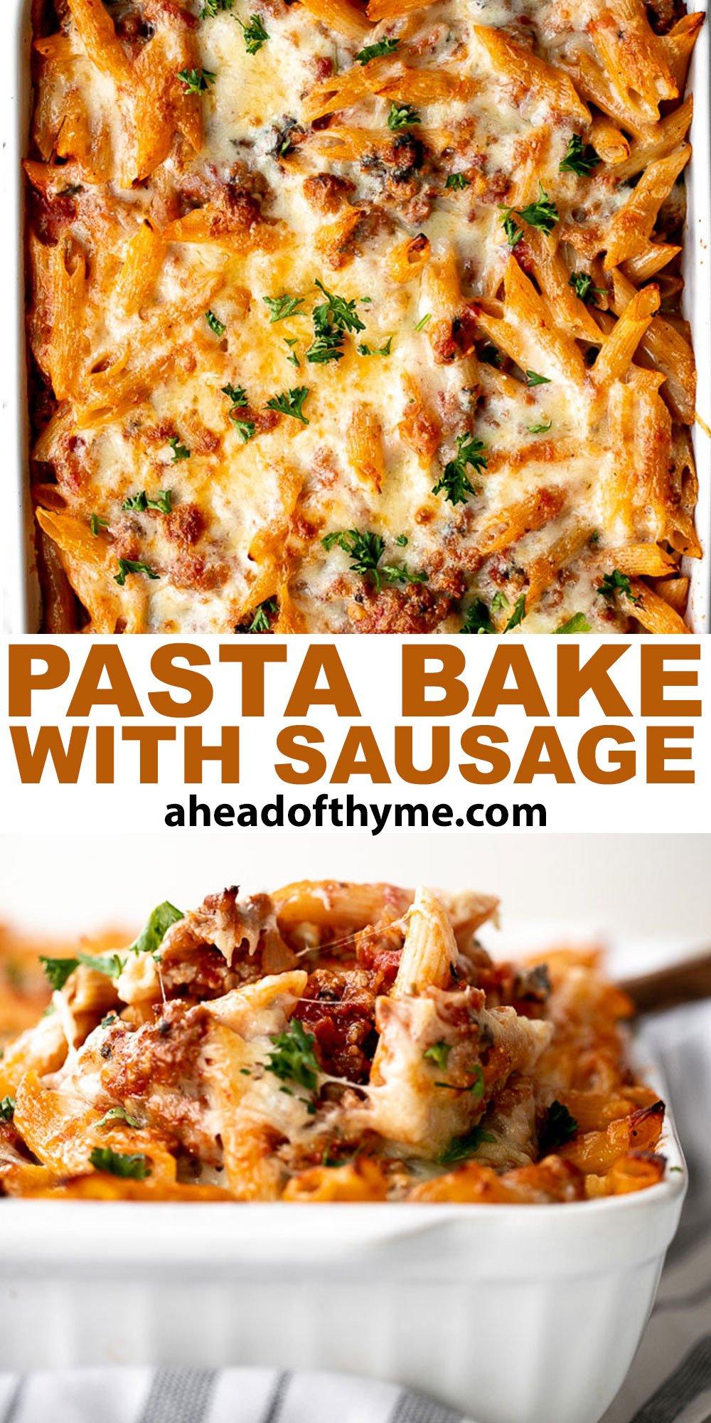 Pasta Bake with Sausage (Baked Ziti)