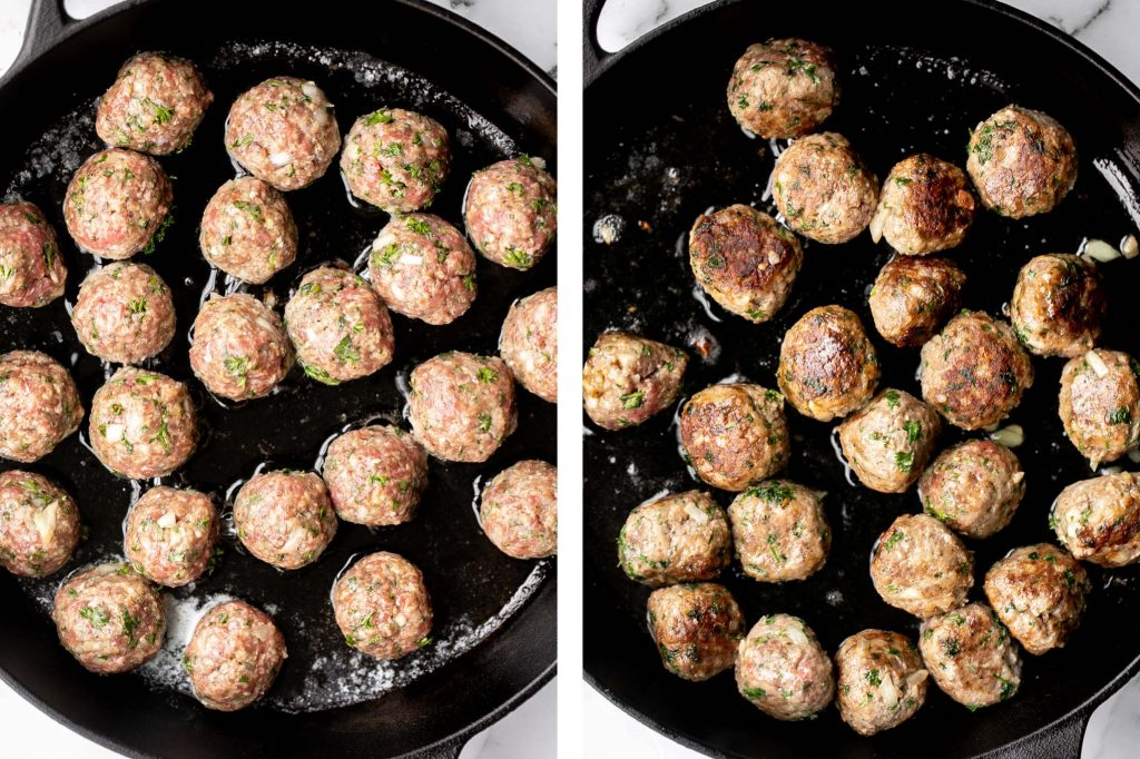 Delicious, comforting homemade Swedish meatballs are seared and smothered in a creamy gravy sauce and taste so much better than IKEA meatballs. | aheadofthyme.com