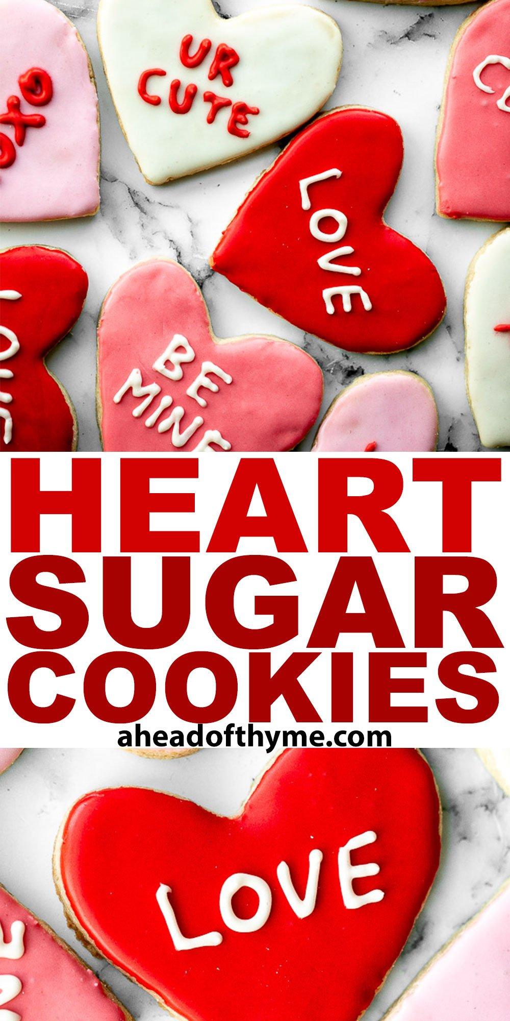 Valentine\'s Day Heart Sugar Cookies