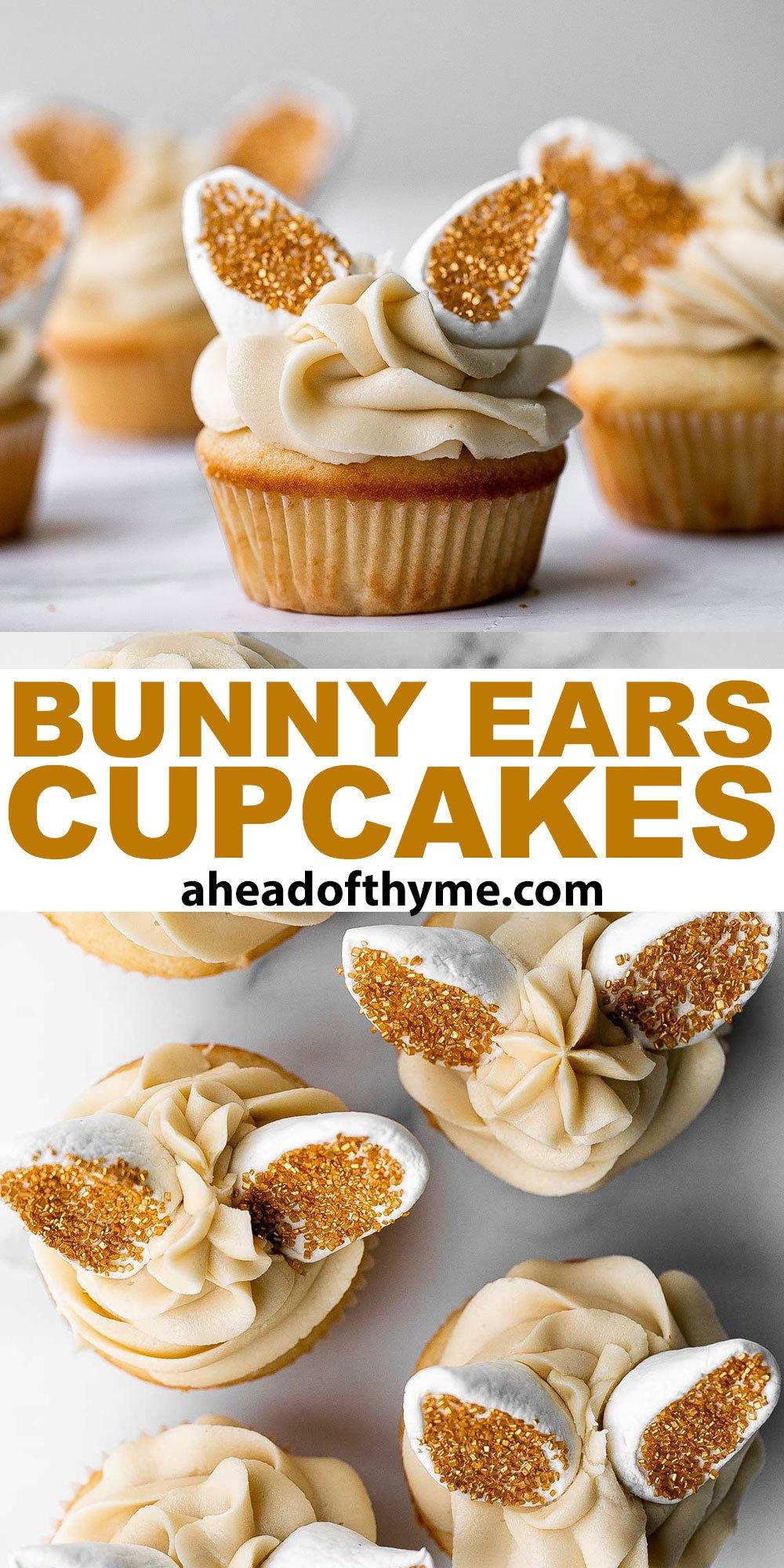 Bunny Ears Easter Cupcakes