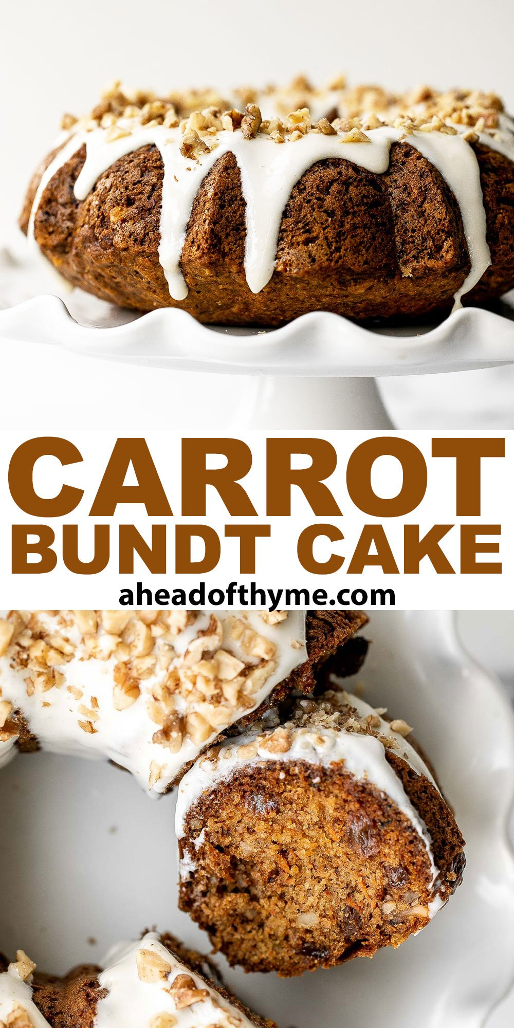 Carrot Bundt Cake with Cream Cheese Glaze