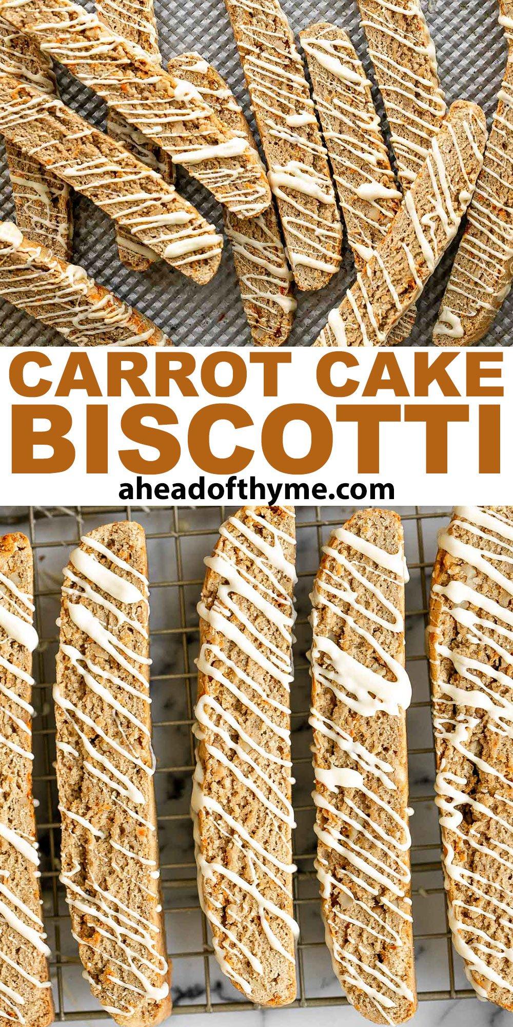 Carrot Cake Biscotti
