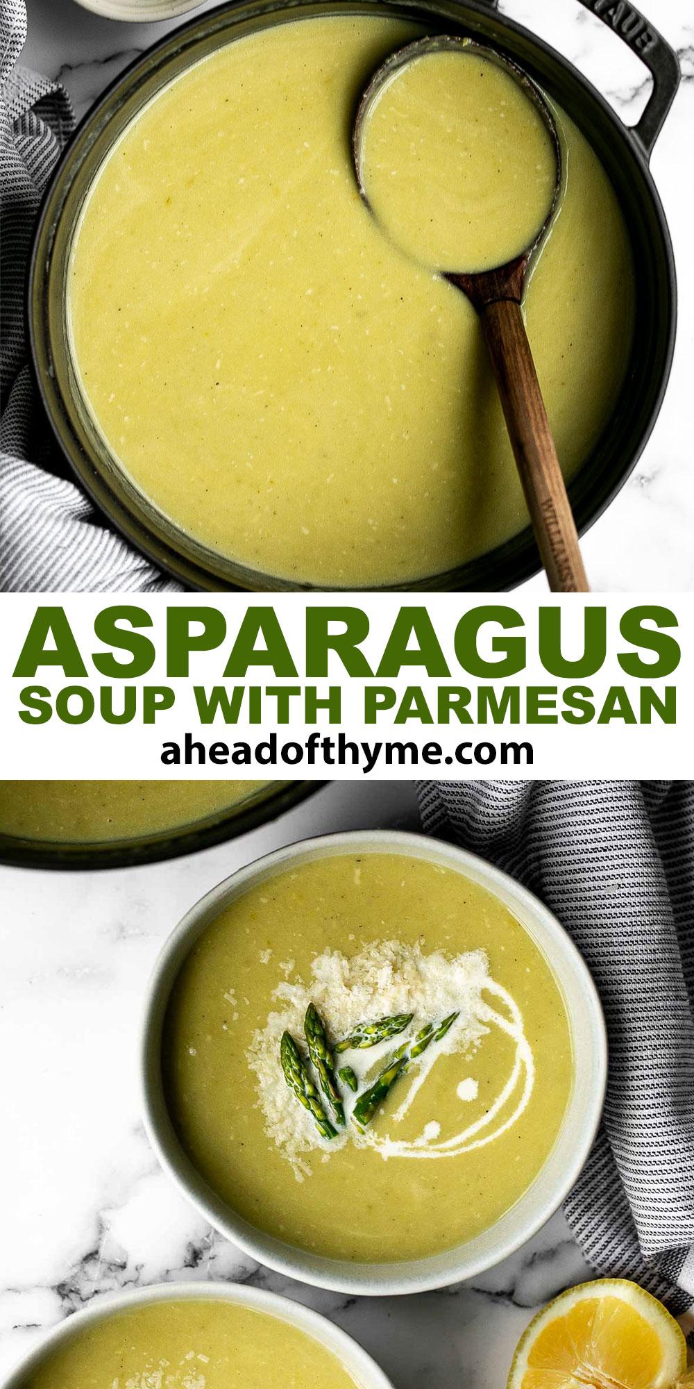 Lemon Asparagus Soup with Parmesan