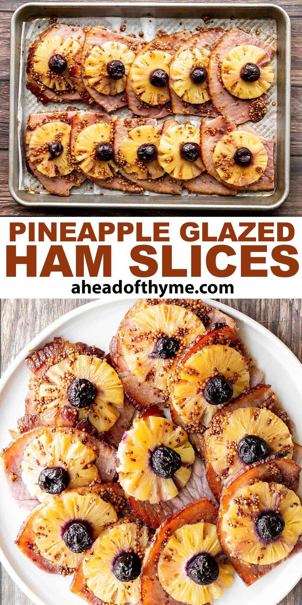 Pineapple Glazed Ham Slices