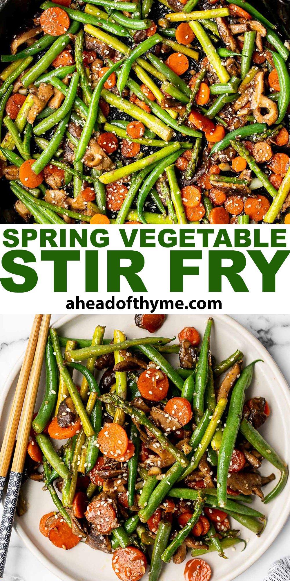 Spring Vegetable Stir Fry