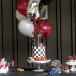 The best two fast second birthday party with ideas on every detail for an epic race car theme party including decor, party favors, desserts and recipes. | aheadofthyme.com