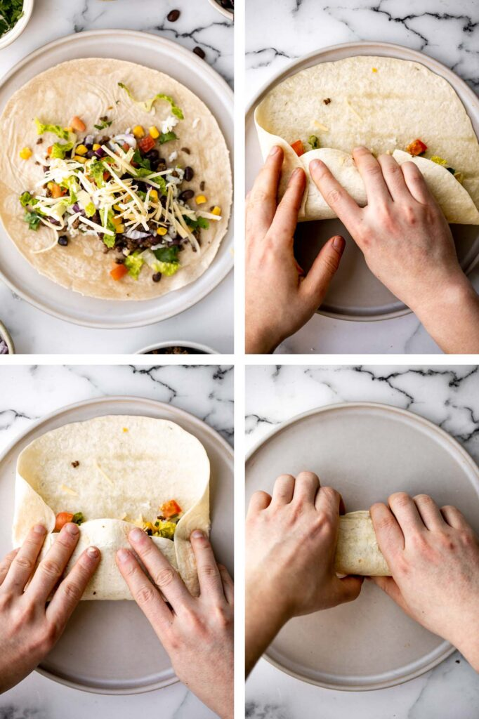 Hearty and filling beef and bean burritos are easy to make ahead, freezer-friendly, and take just 30 minutes for restaurant-quality Mexican food at home. | aheadofthyme.com