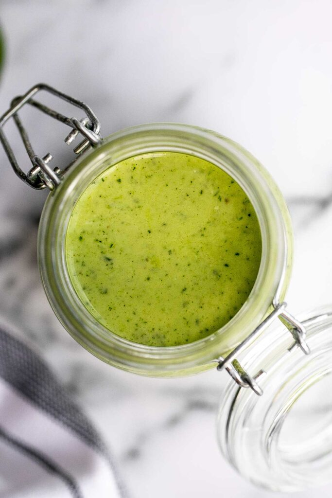 Nothing beats homemade creamy cilantro lime dressing. It's fresh, vibrant, easy to make in 5 minutes, and tastes better than store-bought salad dressing. | aheadofthyme.com