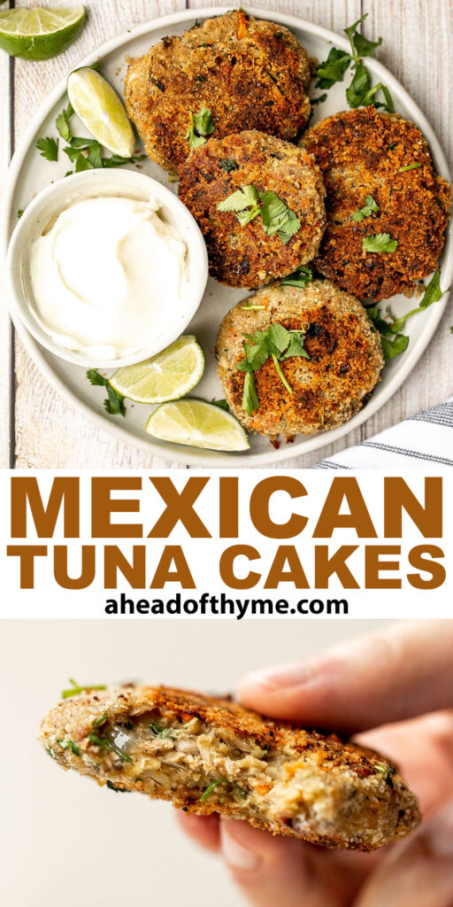 Mexican tuna cakes, or tortitas de atun, are quick, easy, and delicious. Made with canned tuna, these tuna patties come together in about 20 minutes. | aheadofthyme.com