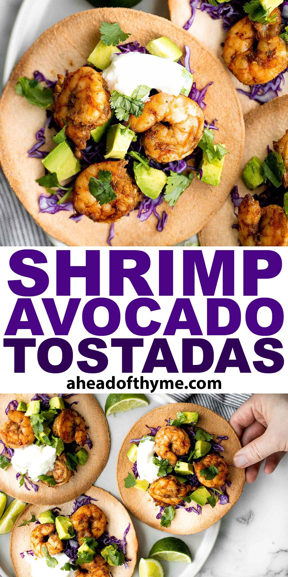 Shrimp Avocado Tostadas