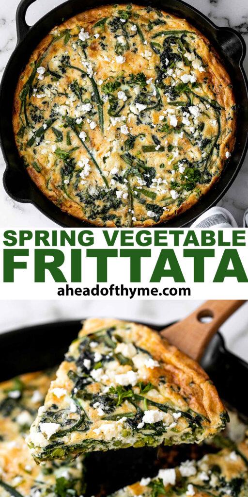 Spring Vegetable Frittata | aheadofthyme.com