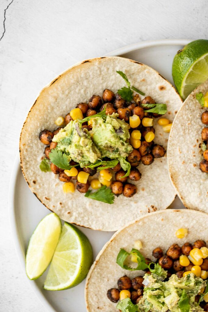 When it comes to vegetarian tacos, these vegan chickpea tacos are some of the best. They are delicious, filling, easy to make, and loved by all. | aheadofthyme.com