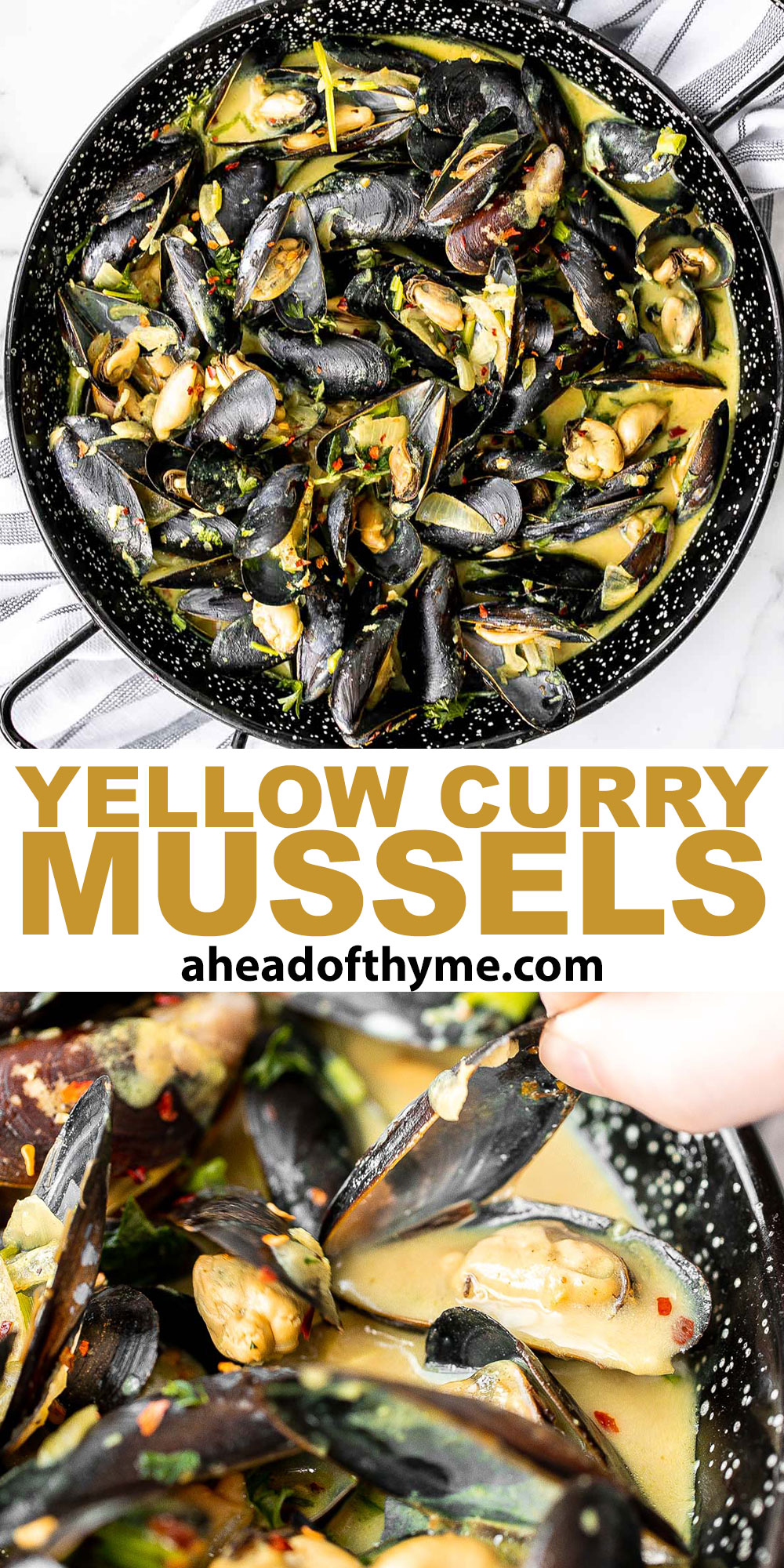 Yellow Curry Mussels