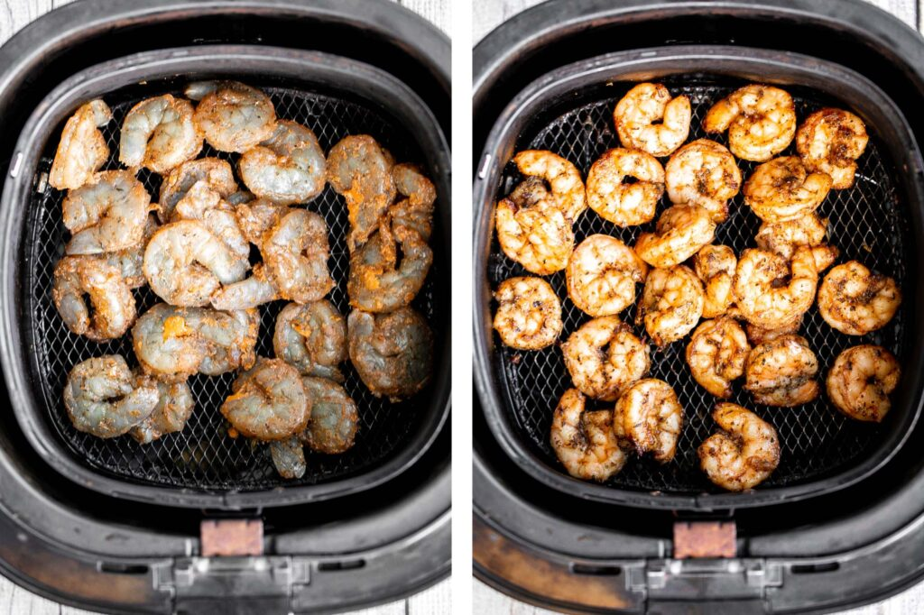 Air fryer Mexican shrimp is juicy, tender, fresh, and delicious. It's packed with classic Mexican flavors and ready in just 10 minutes. So quick and easy.   aheadofthyme.com