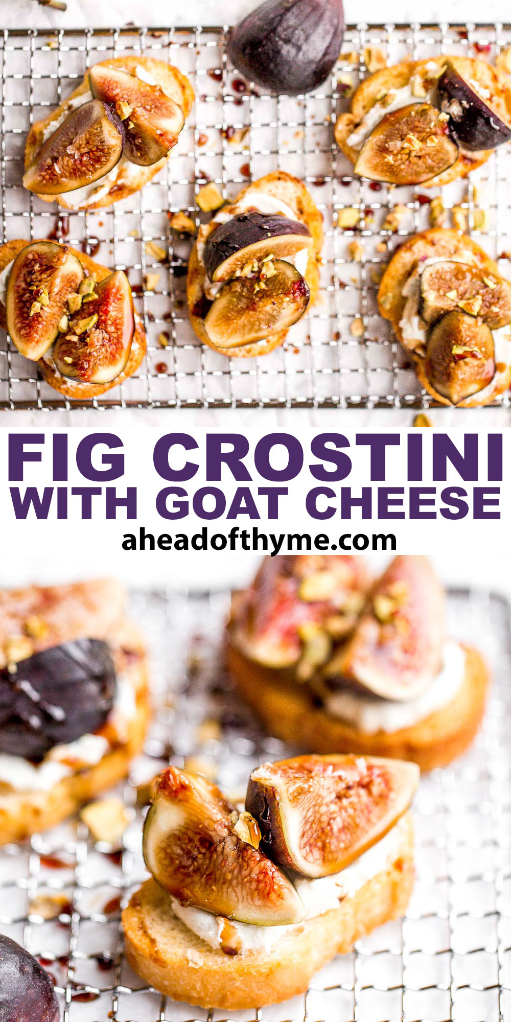 Fig Crostini with Goat Cheese and Pistachios