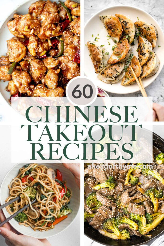 Browse 60 best most popular copycat Chinese takeout recipes to make at home including all the classics, noodles and rice, Asian seafood, dim sum, and more! | aheadofthyme.com