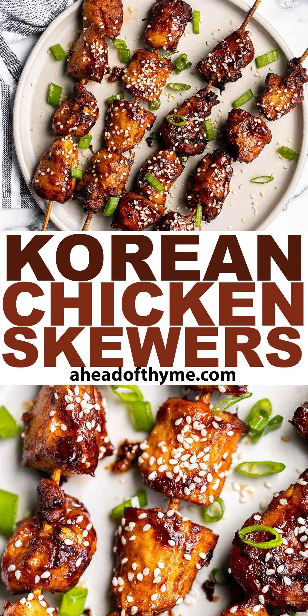 Korean Chicken Skewers