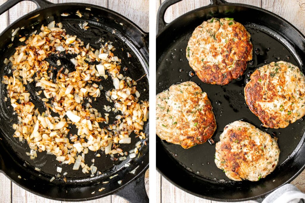 Mediterranean turkey burgers are tender, juicy, and delicious, loaded with garlic, fresh dill, and lemon juice. The perfect summer weeknight meal.   aheadofthyme.com