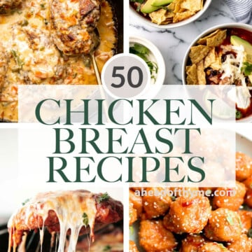 Over 50 popular best chicken breast recipes including comfort food chicken recipes, easy baked chicken and casseroles, Asian takeout, and chicken soup. | aheadofthyme.com