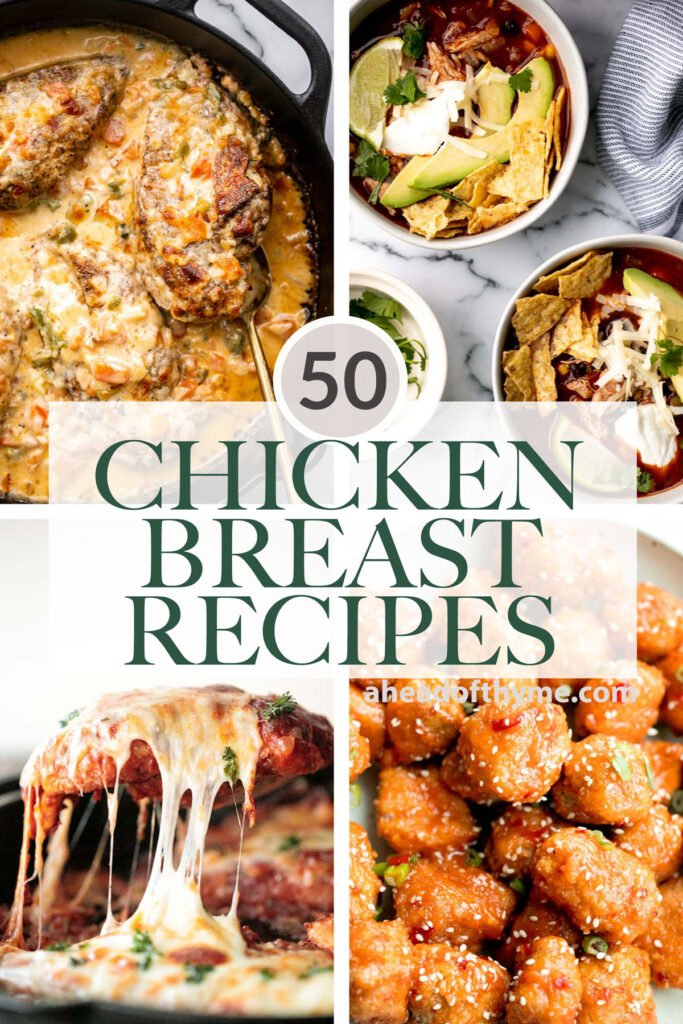 Over 50 popular best chicken breast recipes including comfort food chicken recipes, easy baked chicken and casseroles, Asian takeout, and chicken soup.   aheadofthyme.com