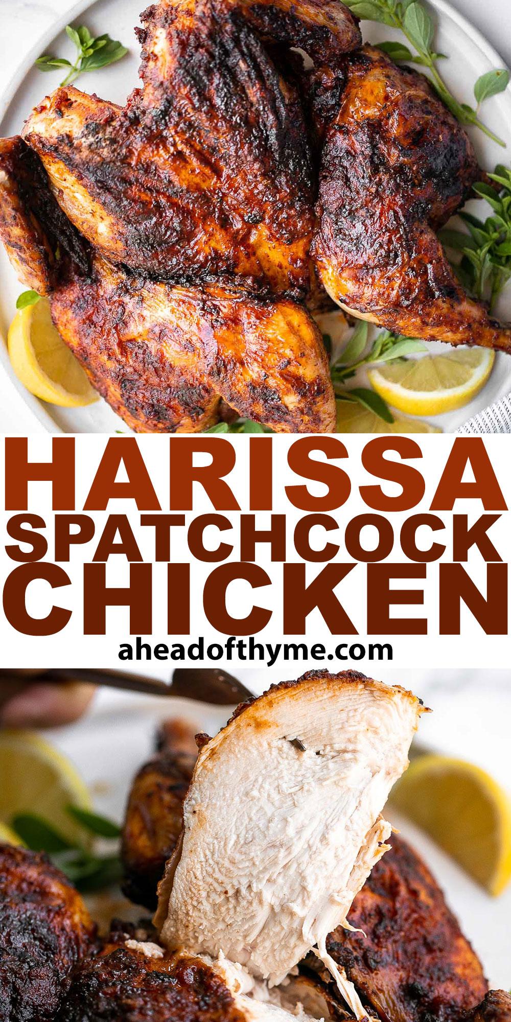 Harissa Spatchcock Chicken