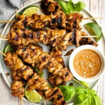 Vietnamese lemongrass chicken skewers are tender, juicy, and flavorful, marinated with fresh lemongrass. Serve these kebabs with peanut dipping sauce.   aheadofthyme.com