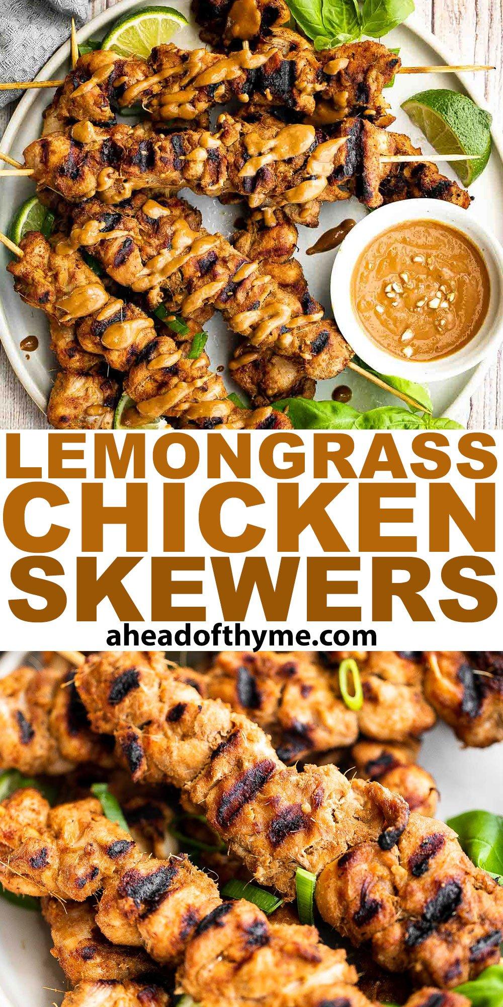 Lemongrass Chicken Skewers