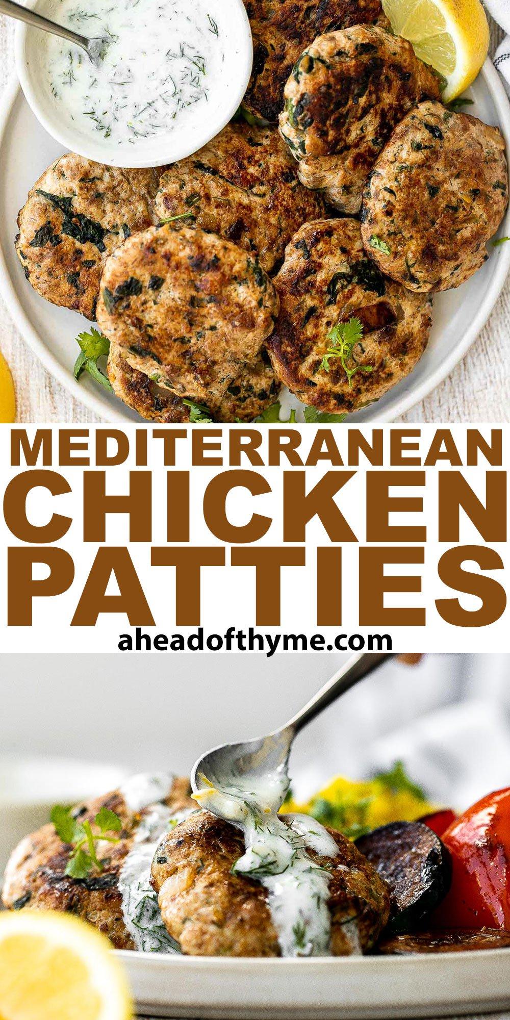 Mediterranean Chicken Patties