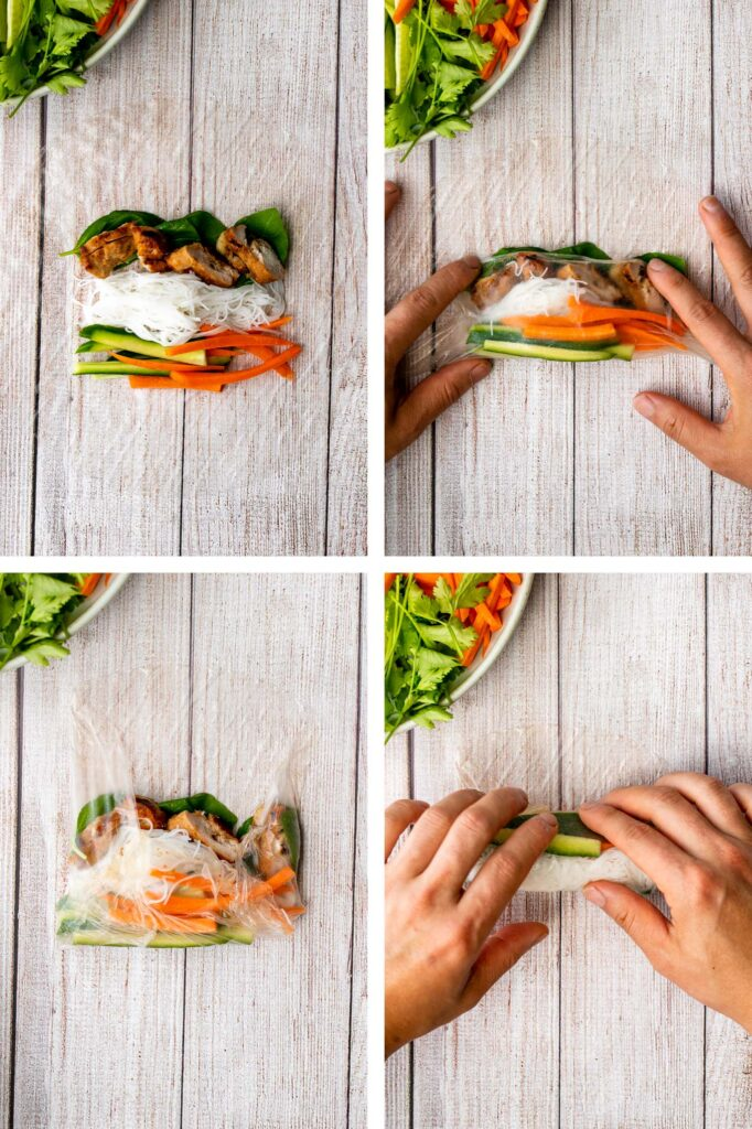 Vietnamese summer rolls with chicken are fresh, light, and healthy. This Asian summer snack takes less than 20 minutes to make and easier than you think. | aheadofthyme.com