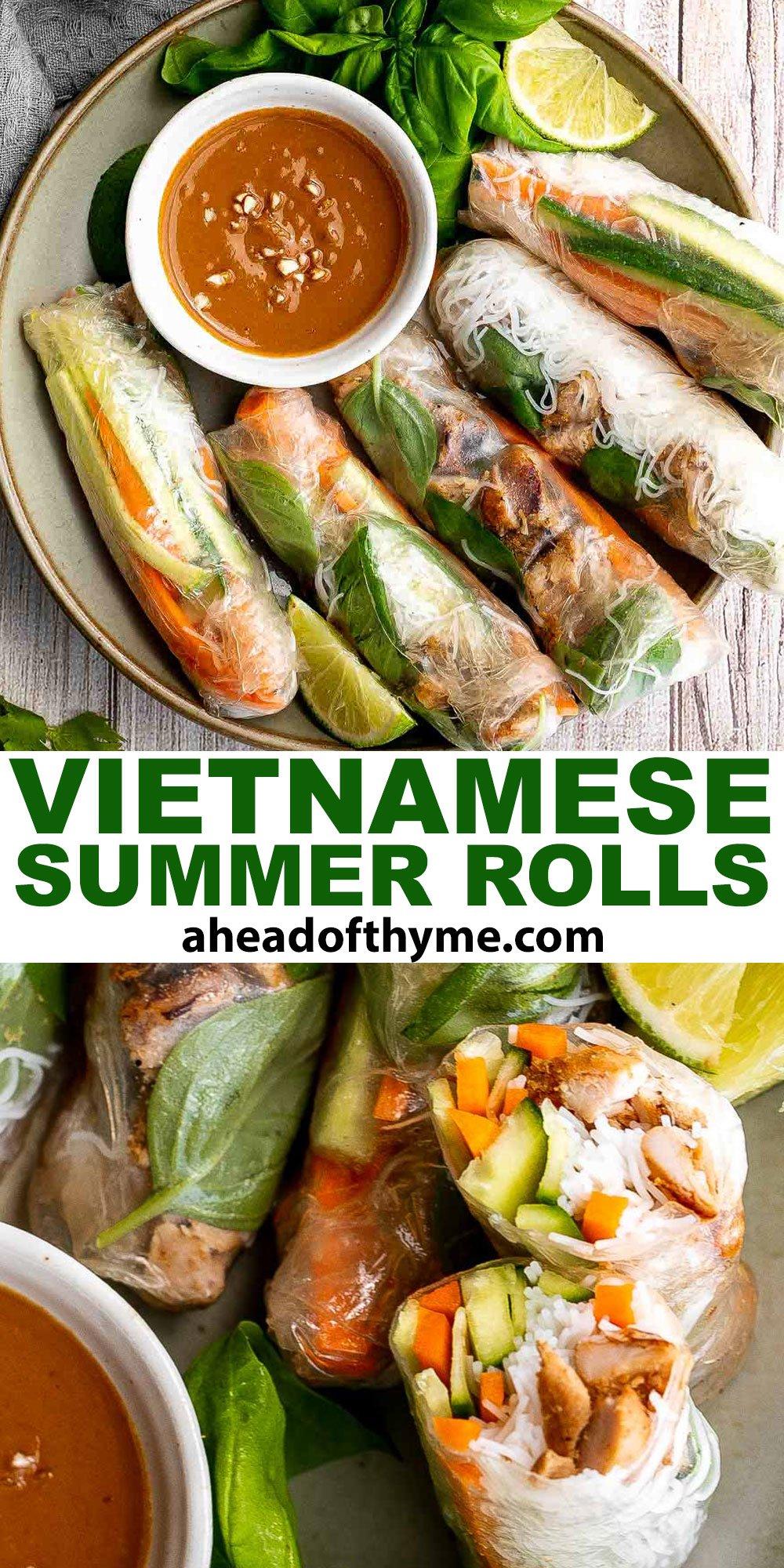 Vietnamese Summer Rolls with Chicken