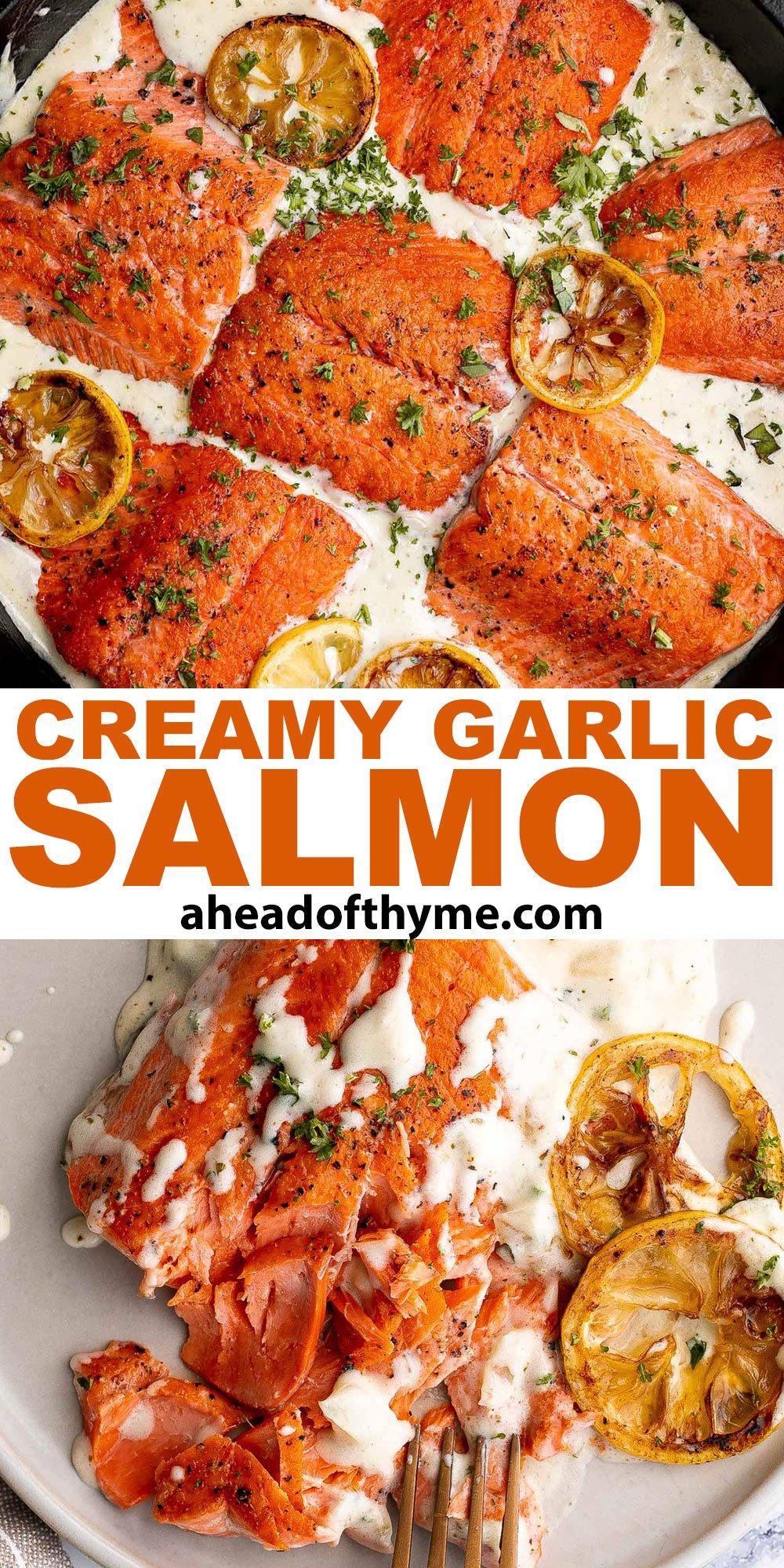 Creamy Garlic Salmon