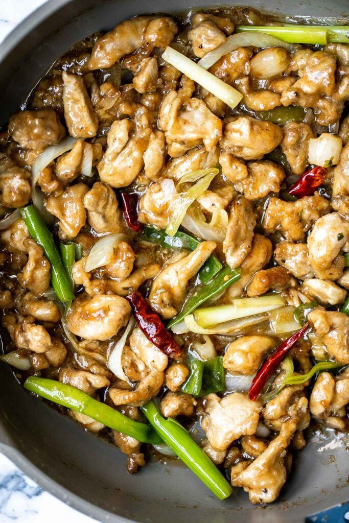 Mongolian chicken is a quick and easy chicken stir fry dish that you can make at home in just 30 minutes. Healthier, faster, and better than takeout. | aheadofthyme.com