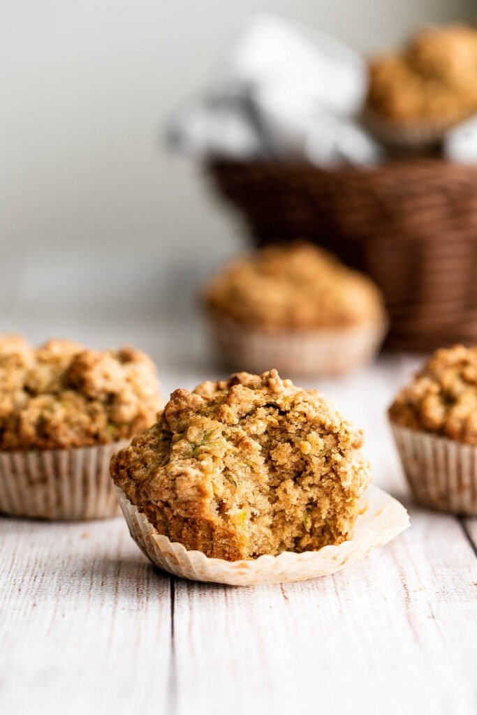 Quick and easy zucchini muffins are loaded with fresh zucchini which makes them fluffy, moist, delicious, and full of nutrients. Freezer-friendly too! | aheadofthyme.com
