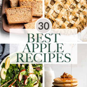 Over 30 best and most popular apple recipes including breakfast and snack recipes, dinner recipes, and all the warm and cozy apple desserts. | aheadofthyme.com