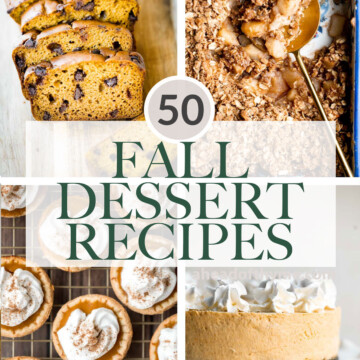 Over 50 best popular fall dessert recipes including the apple desserts, pumpkin desserts, pecan desserts, and more — from pies to cake to cookies. | aheadofthyme.com