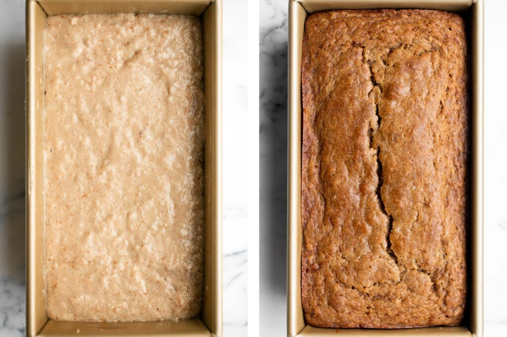Homemade applesauce bread is fluffy, moist, and delicious. Loaded with fall flavors that transforms your favorite snack into a loaf cake. | aheadofthyme.com