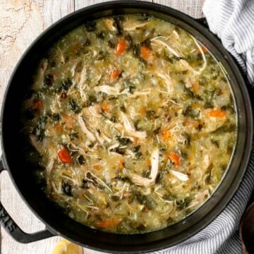 Chicken and rice soup is delicious, warm, cozy, and comforting feel-good meal that can warm you up on a chilly day. Easy to make in one pot. | aheadofthyme.com